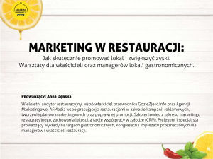 MARKETING W RESTAURACJI: